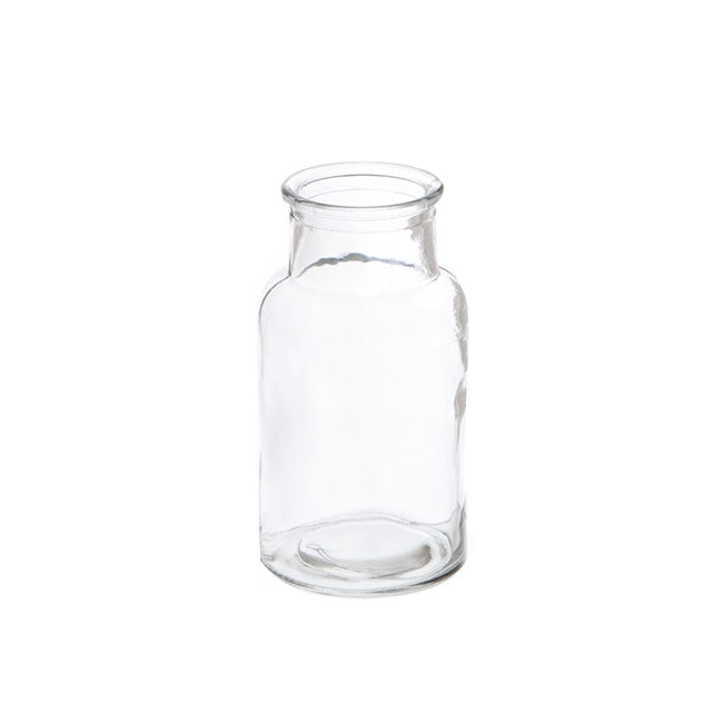 Glass Vintage Milk Bottle Celine Clear (6.7x13cmH) Clear