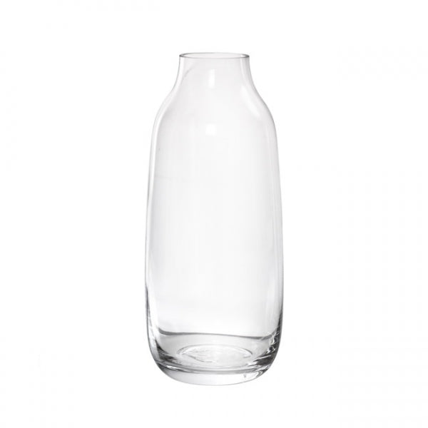 Glass Hamia Vase (13Dx30cmH) Clear