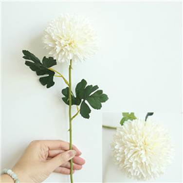 Artificial Silk Chrysanthemum Flower Stem - Ivory