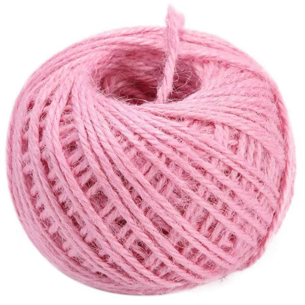 Jute 2mm Twine Cord Roll 50 mtrs - Light Pink