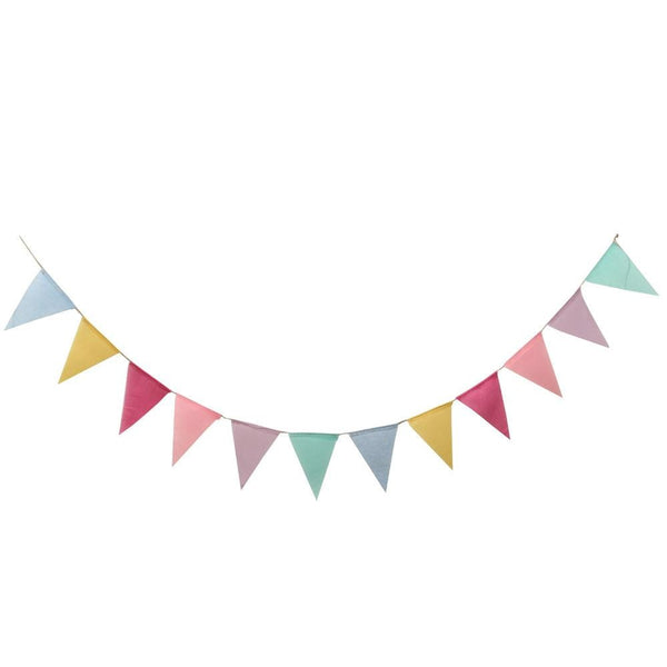 Wedding Party Vintage Rustic Bunting Garland - Rainbow