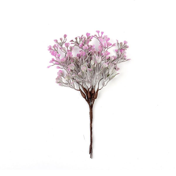 Artificial Wired Leaves Pick - Pink (Style 10)