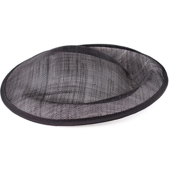Black Saucer Fascinator Sinamay Base 30cm