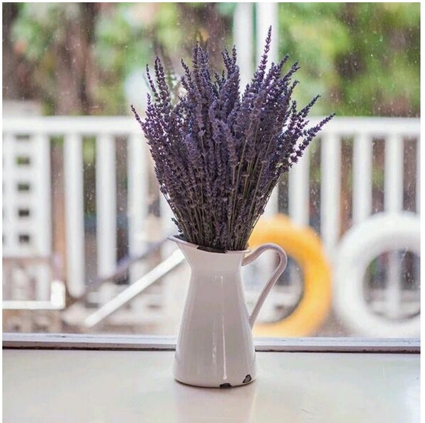 Natural Dried Lavender Flower Stem Bunch