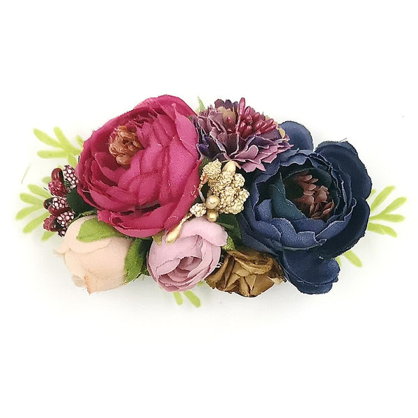 Sweet Floral Baby Girls Christening / Baptism Nylon Headband - (Style 3)
