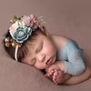 Sweet Floral Baby Girls Christening / Baptism Nylon Headband - (Style 1)