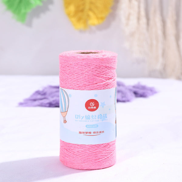 Bakers Cotton Twine 1mm Cord Spool 100 mtrs - Hot Pink