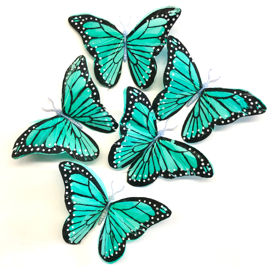 Feather Butterflies Style 5 x 5 Pack - Spearmint