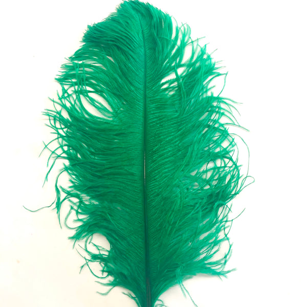 "Ostrich Wing Feather Plumes 60-65cm (24-26"") - Apple Green"