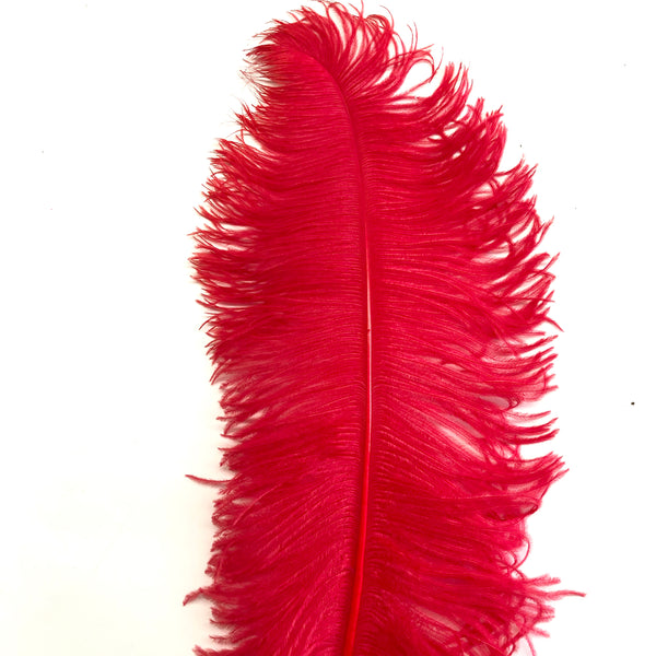 "Ostrich Wing Feather Plumes 60-65cm (24-26"") - Red"