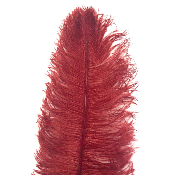"Ostrich Wing Feather Plumes 50-55cm (20-22"") - Blood Red ((SECONDS))"