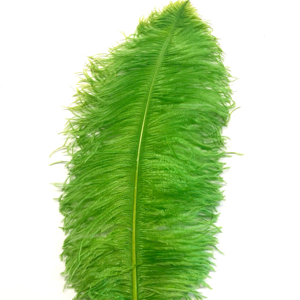 "Ostrich Wing Feather Plumes 50-55cm (20-22"") - Lime Green ((SECONDS))"