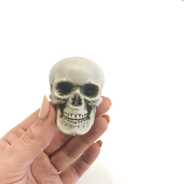 Day of the Dead Halloween Prop Scary Mini Simulation Plastic Skull