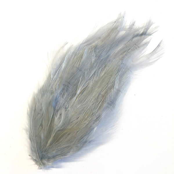 Coque Hackle Feather Pad - Grey