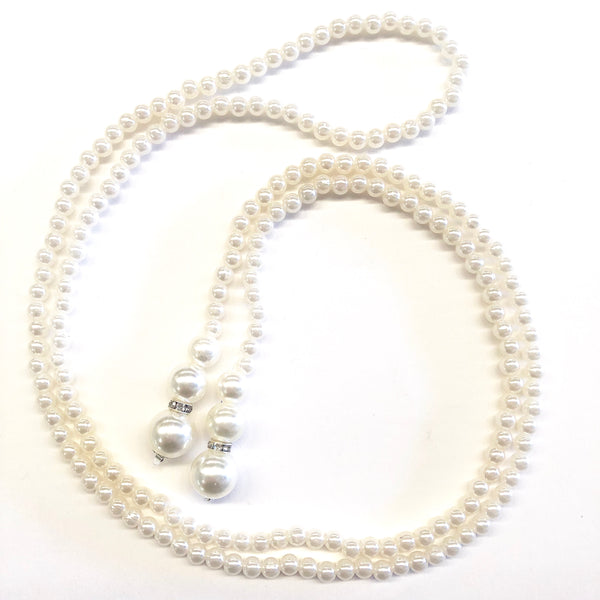 Great Gatsby 1920's Flapper Faux Pearl Knot Necklace