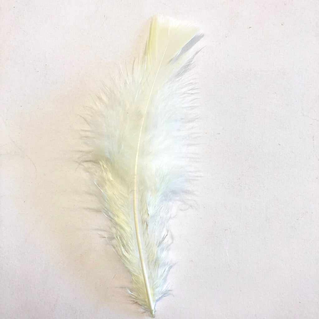 Flat Top Marabou Feather Pack 10 grams - Lemon