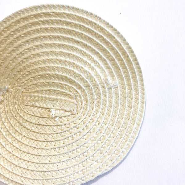 Polybraid 100mm Round Disc Millinery Fascinator Base with Comb - Ivory