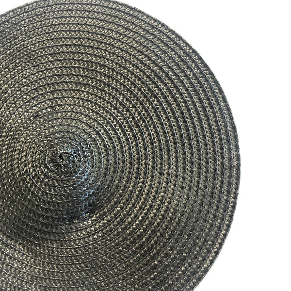 Polybraid 240mm Round Disc Millinery Fascinator Base - Black