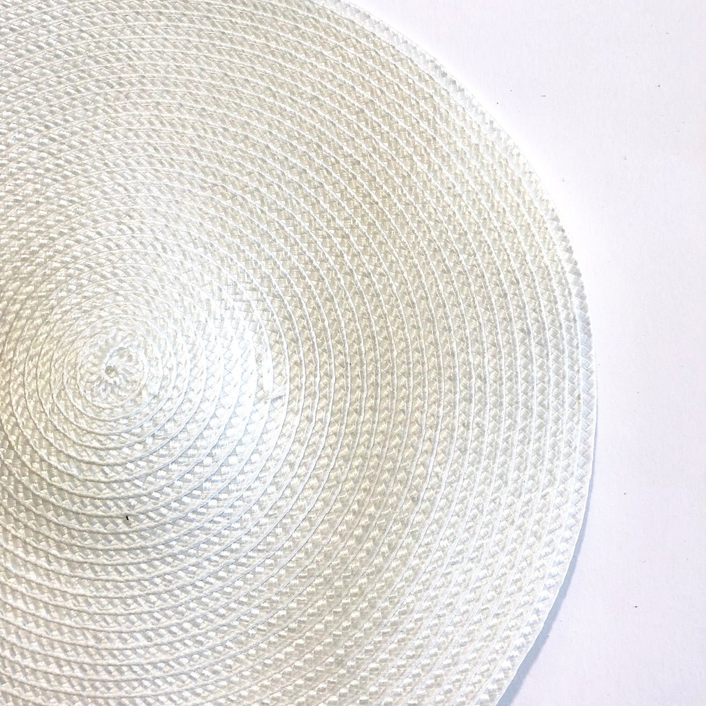Polybraid 240mm Round Disc Millinery Fascinator Base - White