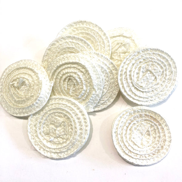 Polybraid 50mm Round Disc Millinery Fascinator Base x 10 pcs - White