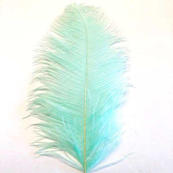 "Ostrich Wing Feather Plumes 50-55cm (20-22"") - Mint Green ((SECONDS))"