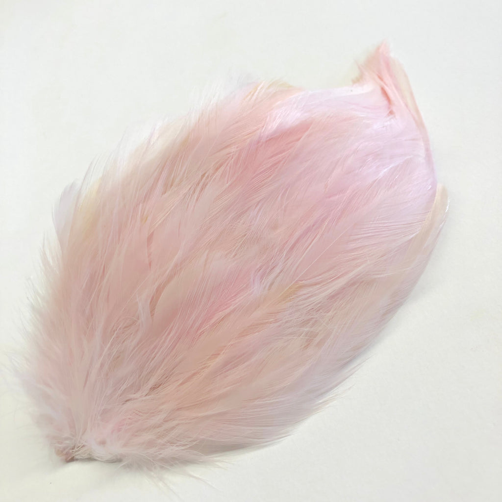 Coque Hackle Feather Pad - Pink