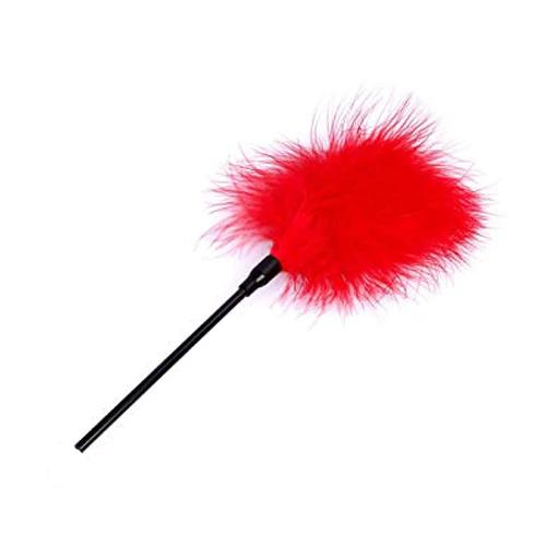 Red Hot Tease Marabou Feather Tickler