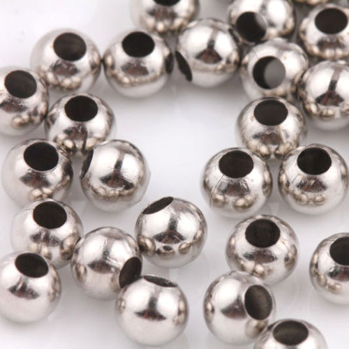 Spacer Beads 4mm x 10 - Silver