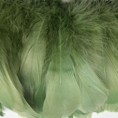 Goose Nagoire Feather Strung per 10cm - Soft Green
