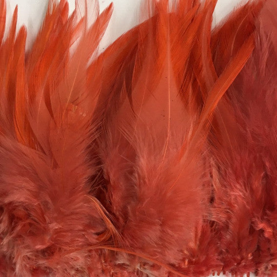Dusty Pink Hackle Strung per 10cm