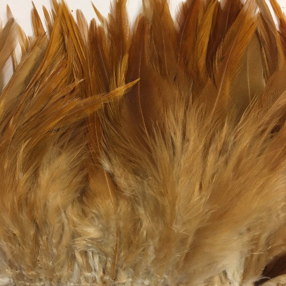 Natural Tan Brown Hackle Strung per 10cm