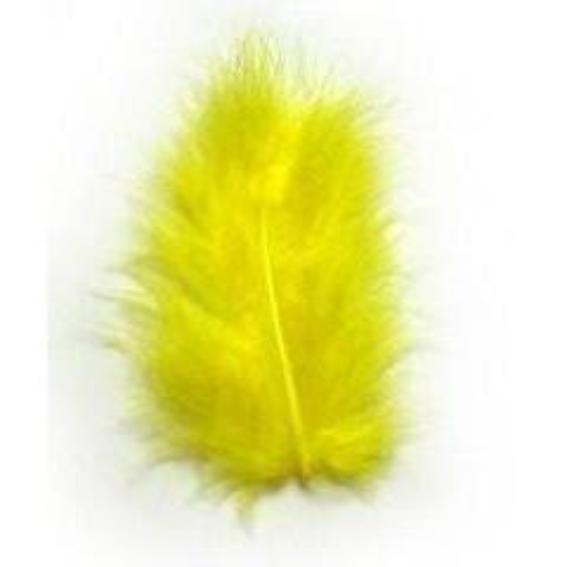 Fluffy Marabou Feather Plumage Pack 10 grams - Yellow