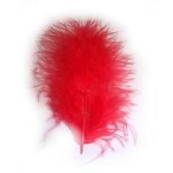 Fluffy Marabou Feather Plumage Pack 10 grams - Red