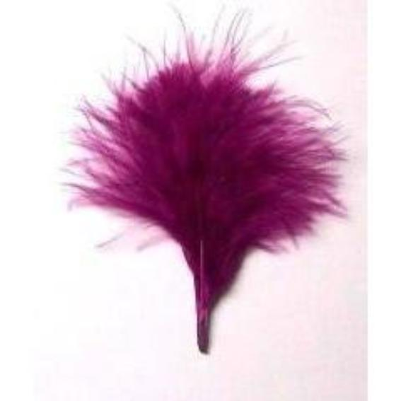 Itty Bitty Marabou Feather Plumage Pack 10 grams - Magenta
