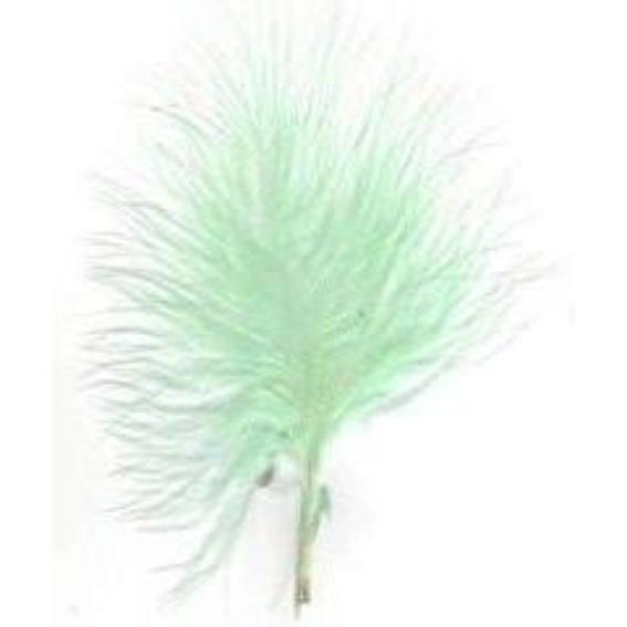 Itty Bitty Marabou Feather Plumage Pack 10 grams - Mint Green