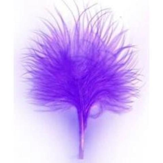 Itty Bitty Marabou Feather Plumage Pack 10 grams - Purple