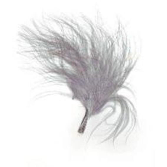 Itty Bitty Marabou Feather Plumage Pack 10 grams - Grey Silver