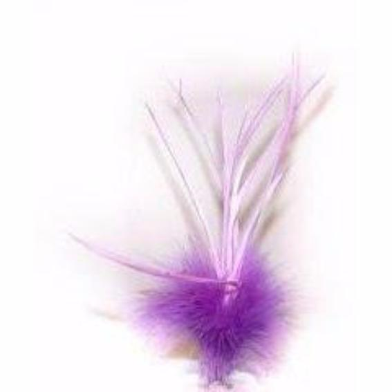 Purple & Lilac Goose Biot Marabou Feather Tuft