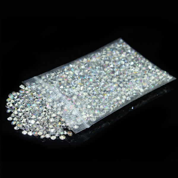 Diamond Confetti Crystal Diamante Acrylic Table Scatters - Silver