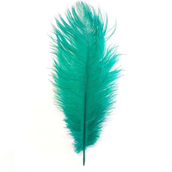 Ostrich Drab Feather 27-32cm - Apple Green