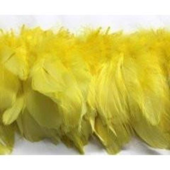 Goose Nagoire Feather Strung per 10cm - Yellow