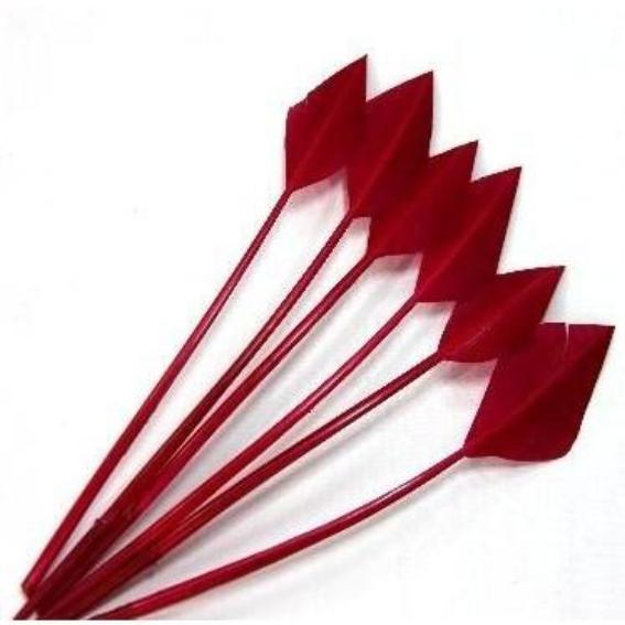 Turkey Wing Arrowhead Feather - Cerise