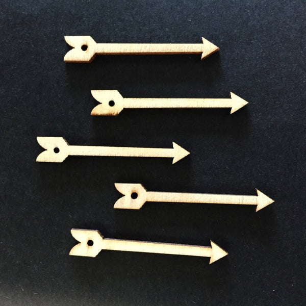 Natural Wooden Arrow x 5