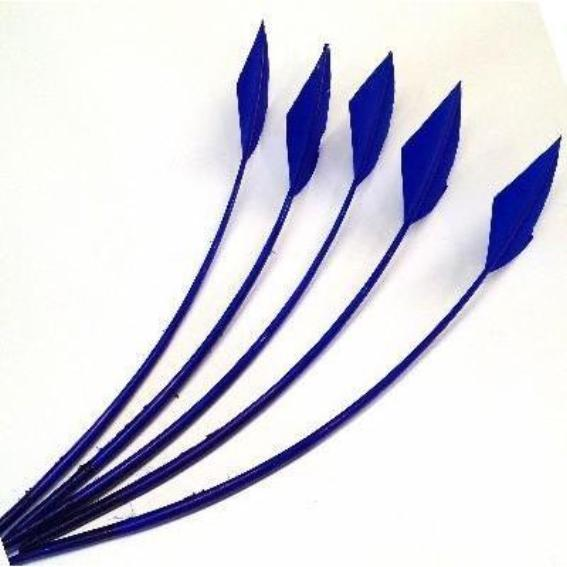 Turkey Wing Arrowhead Feather - Royal Blue
