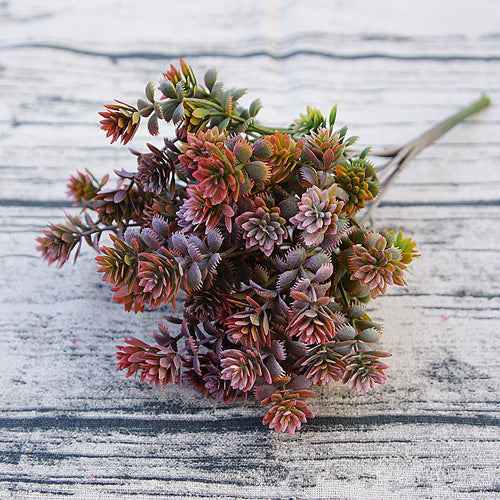 Artificial Succulent Leaf Greenery - Purple