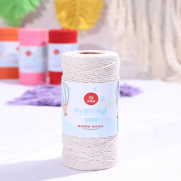Bakers Cotton Twine 1mm Cord Spool 100 mtrs - Ivory