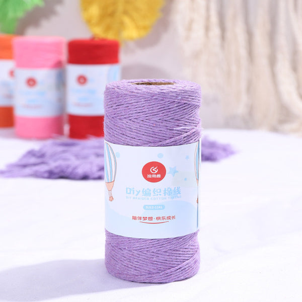 Bakers Cotton Twine 1mm Cord Spool 100 mtrs - Lilac