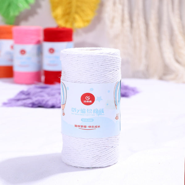 Bakers Cotton Twine 1mm Cord Spool 100 mtrs - White