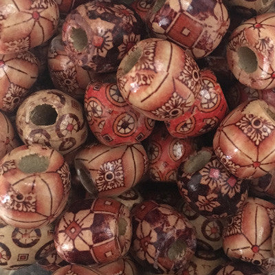 Style 21 Round Wooden Beads 17x17mm x 10