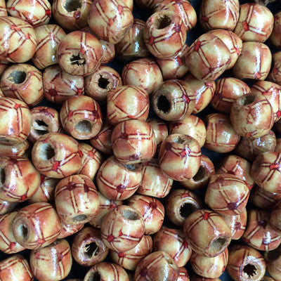 Style 1 Round Wooden Beads 10x10mm x 10
